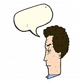 stock photo of annoying  - cartoon annoyed man with speech bubble - JPG