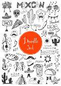 picture of mexican fiesta  - Big doodle set  - JPG