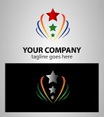 foto of star shape  - Start up star shape concept elements icon logo - JPG