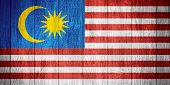 picture of malaysia  - Malaysia flag or Malaysian banner on wooden boards background - JPG