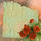 picture of san valentine  - Vintage card for congratulations and invitations with bouquet of red peonies - JPG