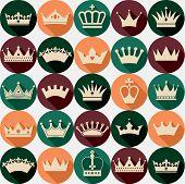 stock photo of crown jewels  - Crowns seamless pattern - JPG