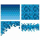 pic of pixel  - Square pixel mosaic background - JPG