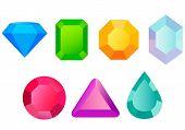 foto of precious stone  - Set precious stones - JPG