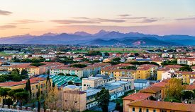 picture of apennines  - View of the Apuan Alps from the Pisa Tower  - JPG