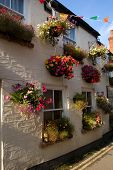 Traditional Pub With Hanging Baskets