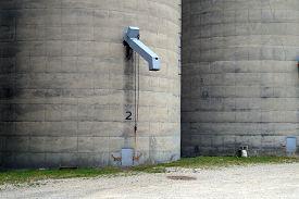 image of chute  - A grain chute on the side of a silo - JPG
