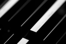 foto of fin  - Cooling fin macro abstract - JPG