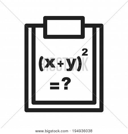 Formula Science Maths Icon Vector Image Can Also Be Used For Math