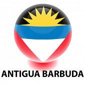Orbe de bandera de Antigua Barbuda