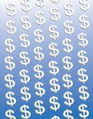 Dollar On Blue
