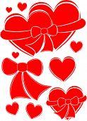 Hearts. Vector Illustration.
