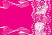 Heart background, vector illustration