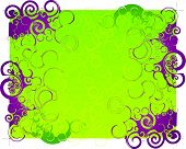Purple And Green Abstract Background