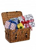 picture of gift basket  - basket with presents - JPG