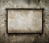 Grungy blank stone plaque