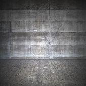 Sala de concreta sujo