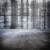 Large concrete compound or space.