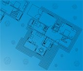 blueprint vector of interior and outside