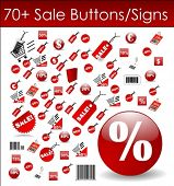 Sale Buttons and Signs in Vector Art