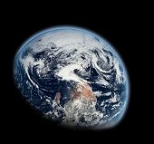 stock photo of planet earth  - Planet Earth in Space - JPG