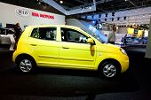 Moscow, Russia - August 25:  Yellow Car Kia Picanto At Moscow International Exhibition Interauto On