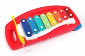 Xylophone for kids isolated on white background