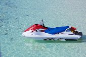 image of ski-doo  - Personal watercraft on crystal blue water - JPG