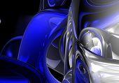 Blau & Silber Kreise 01