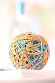 Rubber bands in ball poster