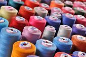 picture of tailoring  - Colorful reels of threads background  - JPG