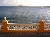 Terrace With Balustrade Looking To The Sea