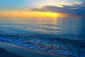 stock photo of atlantic ocean beach  - Sunrise over Atlantic ocean - JPG