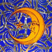 Artistic Symbol Of The Moon And Night