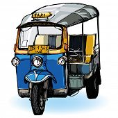 stock photo of rickshaw  - Vector representation of Tuk - JPG