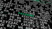 Green Word -password- On A Black poster