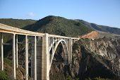 stock photo of bixby  - Big Sur California coast Pacific ocean Bixby bridge landscape - JPG