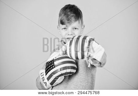 Poster: American Boxer Concept Child Sporty