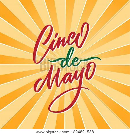 poster of Cinco De Mayo Vector Illustration. 5 Of May Holiday Vector. Cinco De Mayo Holiday Banner. Mexican Ho
