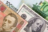 money euro dollar hryvnia