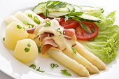 Asparagus with Ham and Vegetables