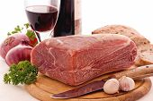 Gammon with Red Wine