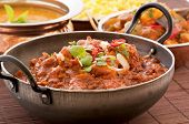 stock photo of ginger bread  - Chichen Madras in Stewpot with Rice and Soup - JPG