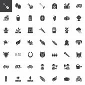 Agriculture And Farming Vector Icons Set, Modern Solid Symbol Collection, Filled Style Pictogram Pac poster