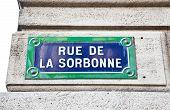 Paris - Sorbonne Street Sign