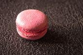 Macaron - Meringue Confection On The Dark  Background poster
