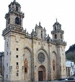 Famous Church In (mondoñedo, Spain)