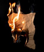 .burning Piece Of Crumpled Paper poster