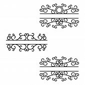 Hand Drawn Dividers. Break Lines. Split Frames. Text Divider. Mailbox Monograms poster