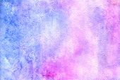 Watercolor Abstract Background. Grunge Light Pink, Purple And Sky Blue Watercolor Background. Smooth poster